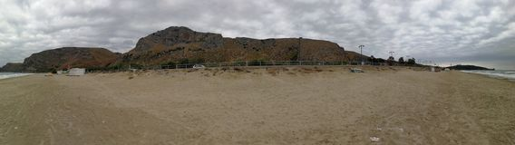 Gaeta - överblick av stranden Arkivbild