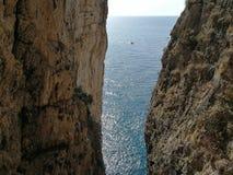 Gaeta - θαυμάσιο βουνό Στοκ Φωτογραφίες