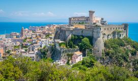 Panoramic view in Gaeta, province of Latina, Lazio, central Italy. Gaeta is a coastal city in central Italy, south of Rome. It`s home to Monte Orlando Park, a Royalty Free Stock Photo