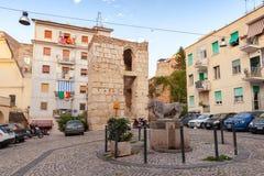 Gaeta gammal stad, gatasikt Fotografering för Bildbyråer