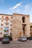 Gaeta gammal stad, gatasikt med gamla hus Royaltyfria Foton