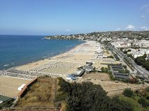 Gaeta - Serapo Bay. Gaeta, Latina, Lazio, Italy - September 9, 2017: Bay of Serapo seen from the Regional Park of Monte Orlando Stock Photo