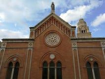 Gaeta - Facade of the Cathedral. Gaeta, Latina, Lazio, Italy - September 9, 2017: Facade of the Cathedral of St. Erasmus and Marciano and Santa Maria Assunta Stock Image