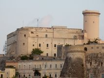Gaeta - Castello Angioino Aragonese. Gaeta, Latina, Lazio, Italy - September 9, 2017: A glimpse of the Castle of Gaeta consisting of an Angevin side, on the Stock Image