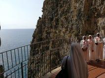 Gaeta - Nunnery to the Split Mountain Stock Photos
