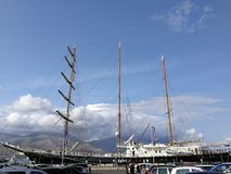 Gaeta - Sailing Boat Shipyard royalty free stock photos