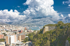 Gaeta panorama. Panoramic view over Gaeta, in Italy Royalty Free Stock Image