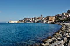 Gaeta panoramautsikt, Italien arkivbild