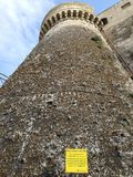Gaeta - Tower of the Castle. Gaeta, Latina, Lazio, Italy - September 9, 2017: Tower of the Angioino-Aragonese Castle Stock Photography