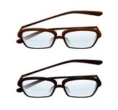Gafas con las lentes semitransparentes Imagen de archivo