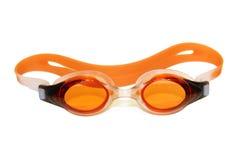 Gafas de la natación en blanco imagen de archivo libre de regalías