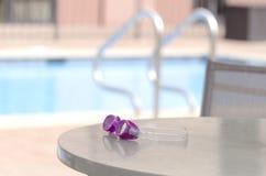 gafas de la natación en la sombra Fotos de archivo