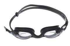 Gafas de la natación aisladas en blanco Imagen de archivo libre de regalías