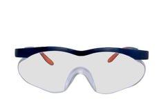 Gafas de seguridad plásticas aisladas en el fondo blanco Imagen de archivo libre de regalías