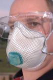 Gafas de seguridad y respirador imágenes de archivo libres de regalías