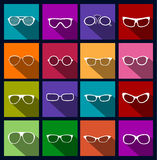 Gafas de sol coloridas de los iconos Foto de archivo libre de regalías