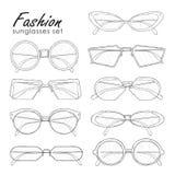 Gafas de sol de la moda fijadas ilustración del vector