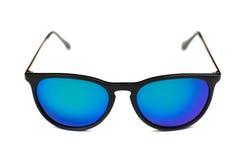 Gafas de sol de moda con las lentes azules Fotos de archivo libres de regalías