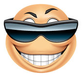 Gafas de sol del Emoticon Imagen de archivo
