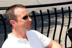 Gafas de sol del hombre Fotografía de archivo