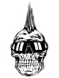Gafas de sol del punky del cráneo libre illustration