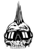 Gafas de sol del punky del cráneo stock de ilustración