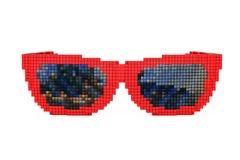 Gafas de sol en el pixel Art Style representación 3d Foto de archivo