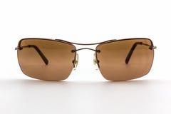 Gafas de sol marrones elegantes Imagenes de archivo