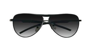 Gafas de sol negras en blanco Imagen de archivo libre de regalías