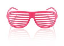 Gafas de sol rayadas rojas aisladas Imágenes de archivo libres de regalías
