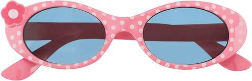Gafas de sol rosadas del inconformista aisladas en blanco Imagenes de archivo