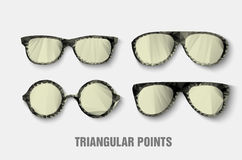 Gafas de sol triangulares Imagenes de archivo