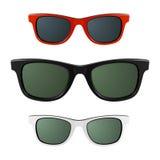 Gafas de sol. Vector. Imágenes de archivo libres de regalías