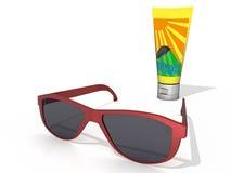 Gafas de sol y protección de Sun Imágenes de archivo libres de regalías