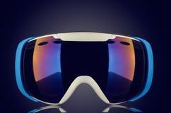 Gafas a estrenar del esquí Imagen de archivo libre de regalías