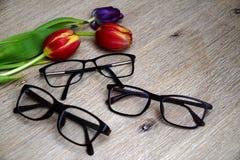 Gafas para la primavera imágenes de archivo libres de regalías