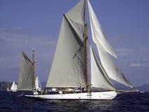 Gaff gemonteerd jacht royalty-vrije stock foto's