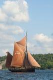 Brixham Schleppnetzfischer Deoadar lizenzfreies stockfoto