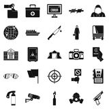Gaffe icons set, simple style Royalty Free Stock Photo