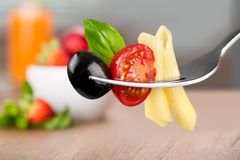 Gaffel för pasta Royaltyfria Foton