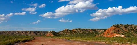 Gaffel för stad för präriehund av Redet River Arkivfoton