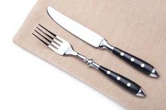 Gaffel och kniv Arkivbild