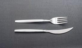 Gaffel och kniv Royaltyfri Foto
