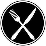 Gaffel- och knivkors royaltyfri illustrationer