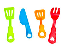 gaffelknivplast- Royaltyfri Bild