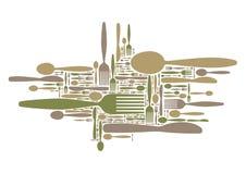 gaffelknivsked Arkivbilder