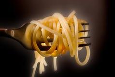 gaffelspagetti Royaltyfria Foton