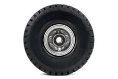 gaffeltruckhjul Arkivbild