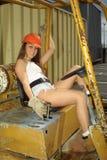 gaffeltruckoperatör Royaltyfri Fotografi
