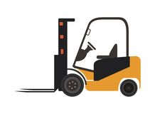 Gaffeltrucksymbol stock illustrationer